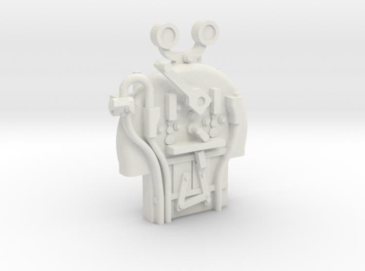 FR J1/E1/Albion - Backhead Controls - WSF & Brass 3d printed