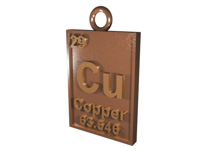 Copper periodic table pendant n6swellu5 by cbertucio copper periodic table pendant 3d printed cgi rendering of the pendant urtaz Images
