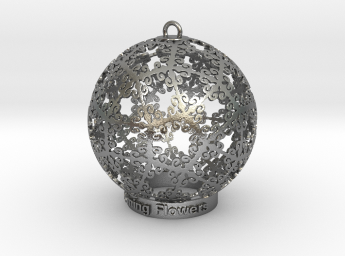 Blooming Flowers Ornament for Lighting 3d printed Blooming flowers in silver is so spectacle (different materials have different prices)