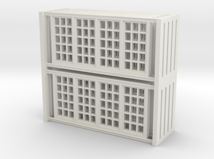 Red Barn Window Group D (10) - 72:1 Scale 3d printed