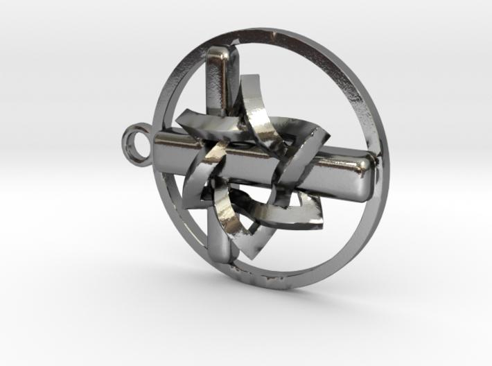 Circle pendant cross and sof 3d printed
