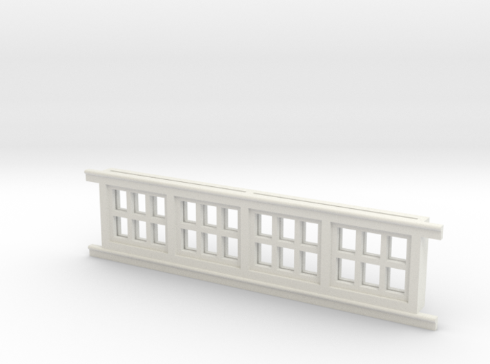 Red Barn Window Section 2x3 White 3d printed