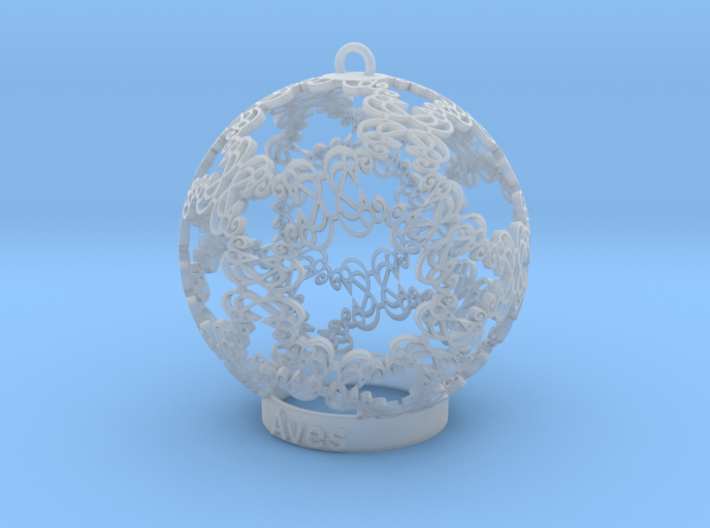 Aves Ornament for lighting 3d printed