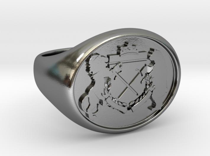 Crest Signet Ring 3d printed