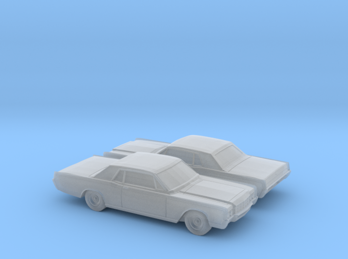 1/160 2X 1969 Lincoln Continental Coupe 3d printed