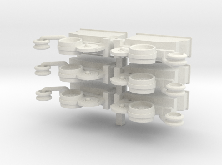 6 Row Deutz Units 3d printed