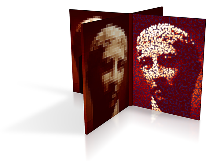 Brown Portrait Fan 4in 3d printed