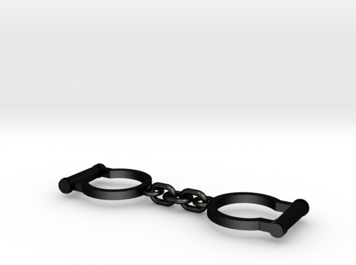 Ned Kelly Gang Outlaw Shackles Handcuffs (med) 3d printed