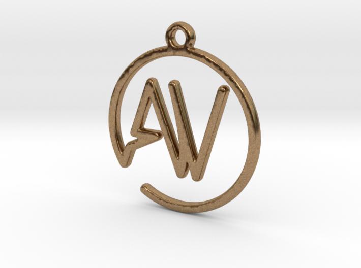 A & V Monogram Pendant 3d printed