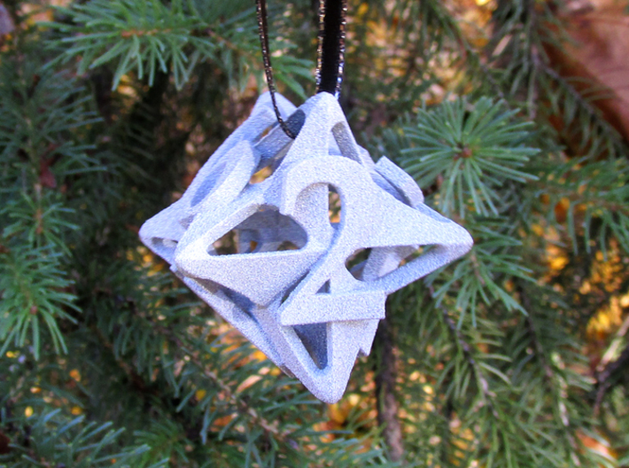Pinwheel d6 Ornament 3d printed
