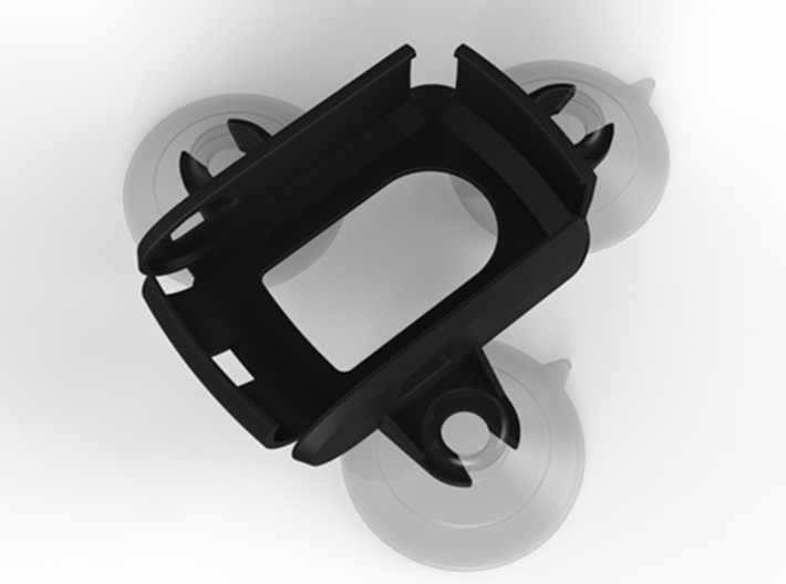 Suction Cup mount holder for Qstarz 818x GPS - 3 P 3d printed Holder with Suction Cups (supplied separately)
