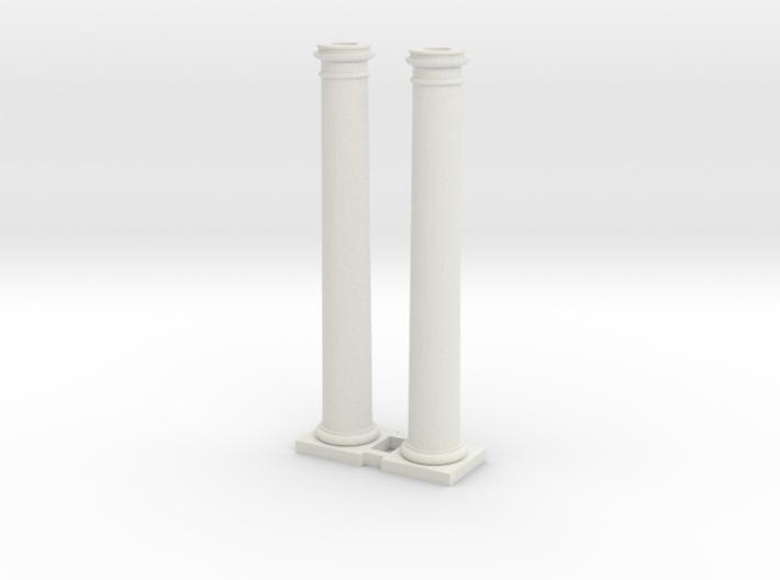 Doric Column 4500mm high X 2 at 1:76 Scale 3d printed