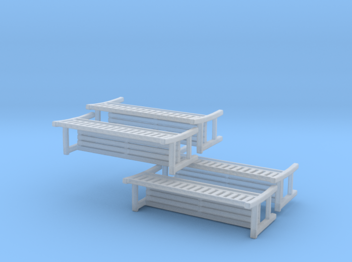 Park Bench-v2 - 1 To 200 Scale X 4 3d printed