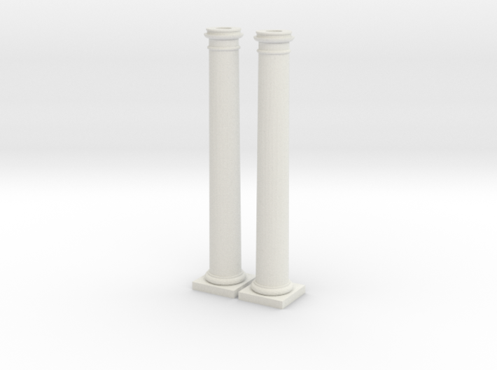 Doric Columns 5000mm high at 1:76 Scale 3d printed