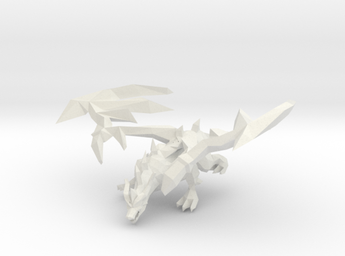 GLACIER THE FROST DRAGON OF ICE 3d printed