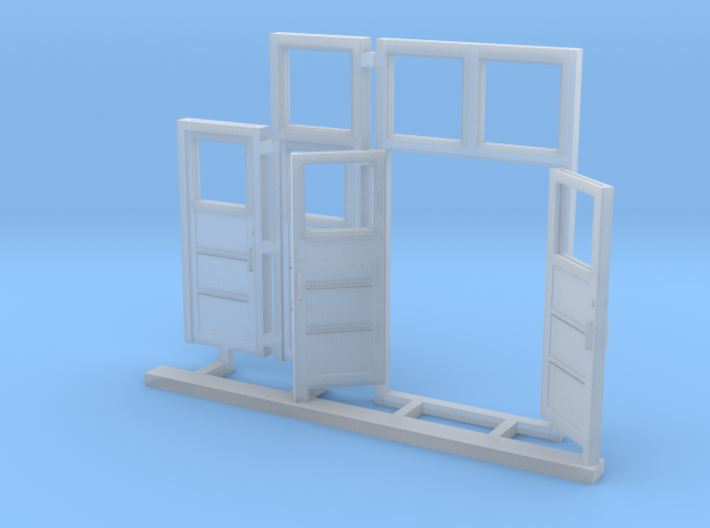 Red Barn Door Group 3d printed