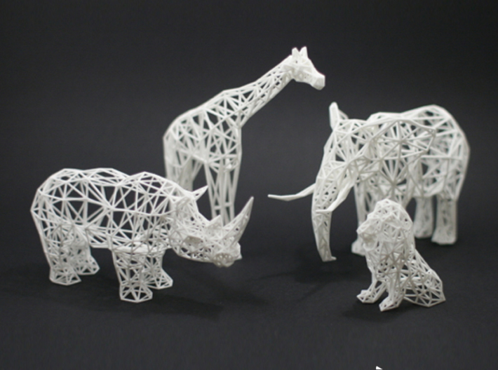 Digital Safari- Elephant (Large) 3d printed Digital Safari Animals- Giraffe, Rhino, Elephant, Lion