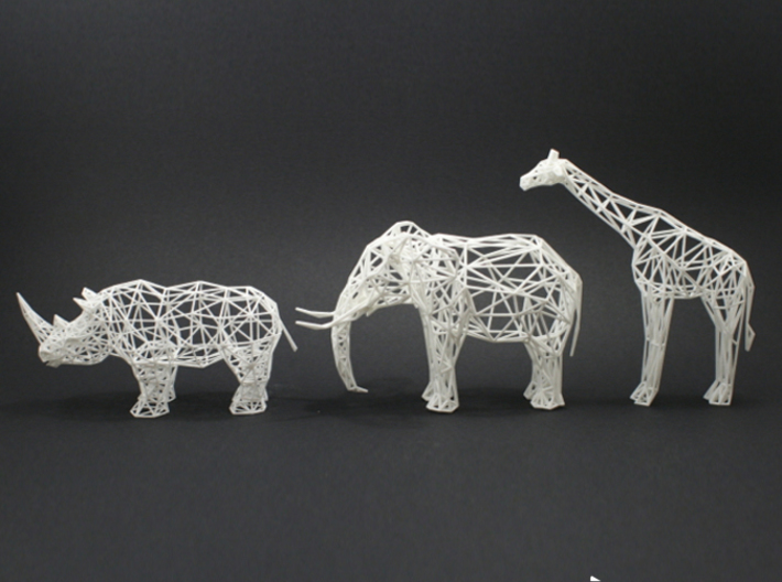 Digtial Safari- Giraffe (Large) 3d printed Digital Safari Animals- Rhino, Elephant, Giraffe