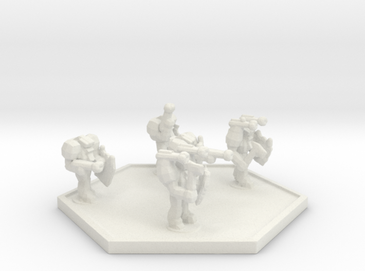 UWN Peacekeeper Enforcer Squad (Hex) 3d printed