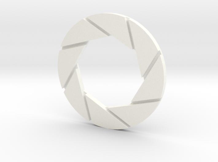 Aperture Logo 5in Thin 3d printed