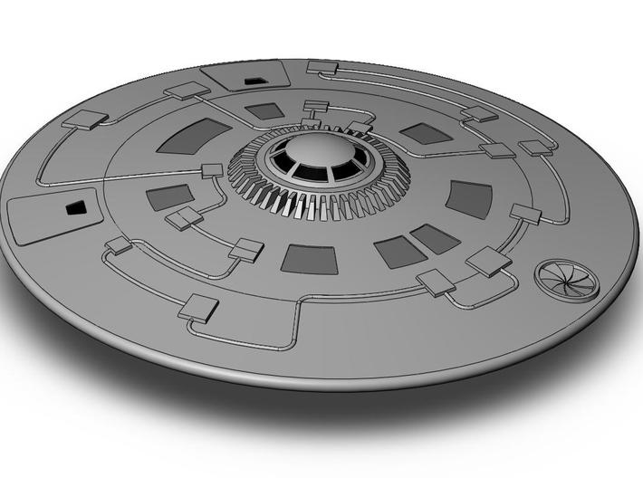Tri Sphere Scout Saucer 3d printed upper hull view of Tri Sphere Scout