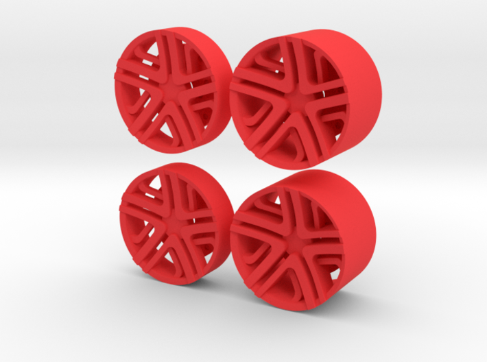 LC Rims - Inserts for Slot Car rims 3d printed Inserts for Rims Slot Car scale 1/24