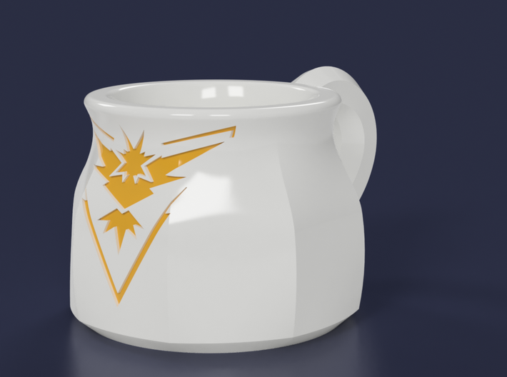 Pokemon Go Team Instinct Mug (8oz) 3d printed