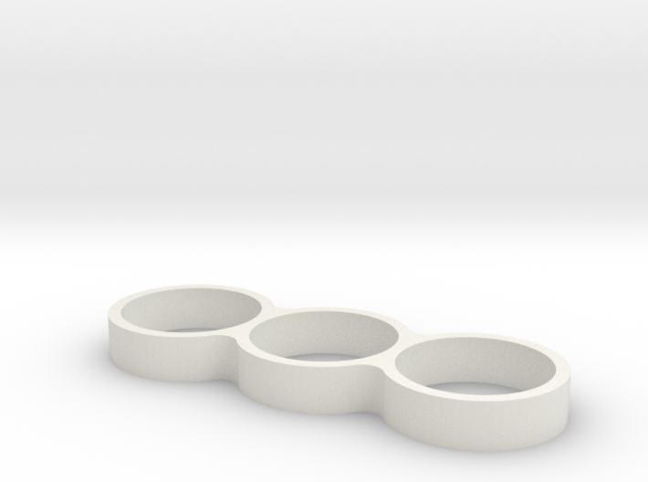 Triple Ring Bearing Spinner 3d printed