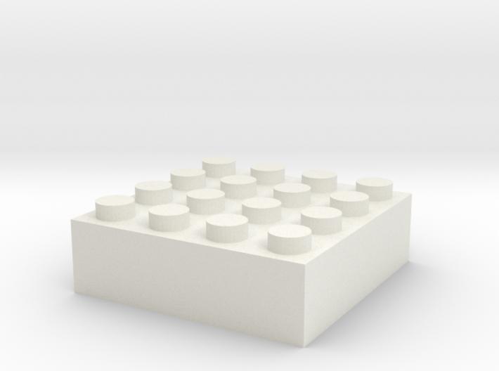 Block 4x4 3d printed