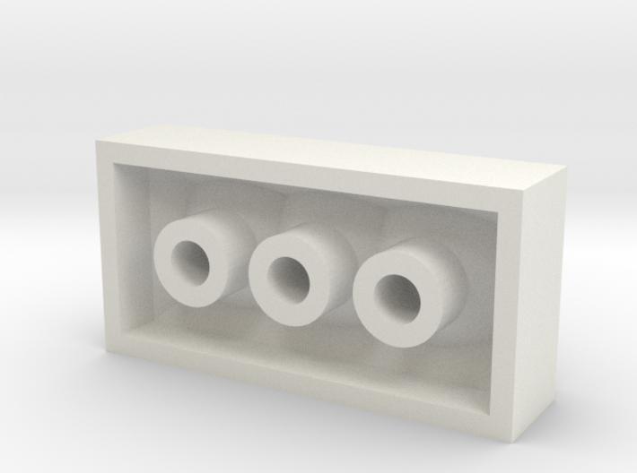 4x2brick 3d printed