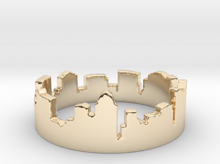 Columbus Night Ohio Ring (Size-5) 3d printed Columbus Night Ohio Ring is Golden