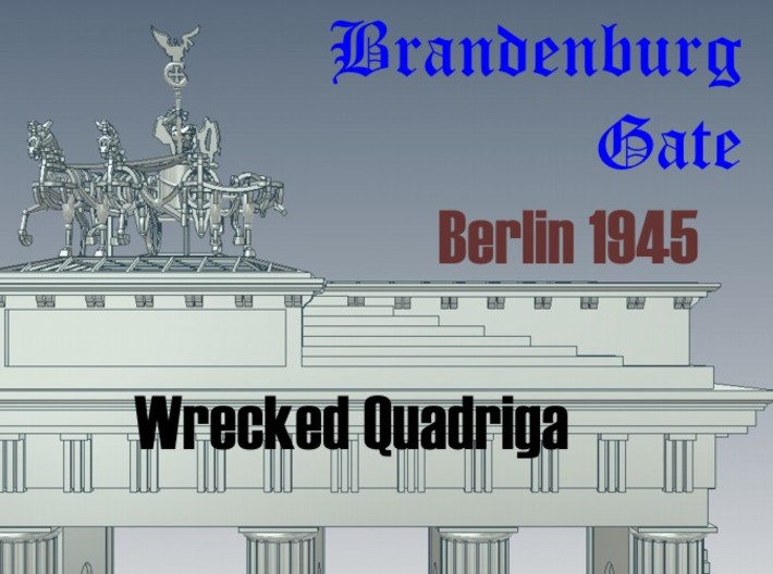 1-144 Quadriga For Brandenburg Gate 3d printed