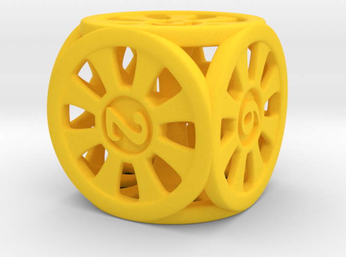 D6 dice rings 3d printed