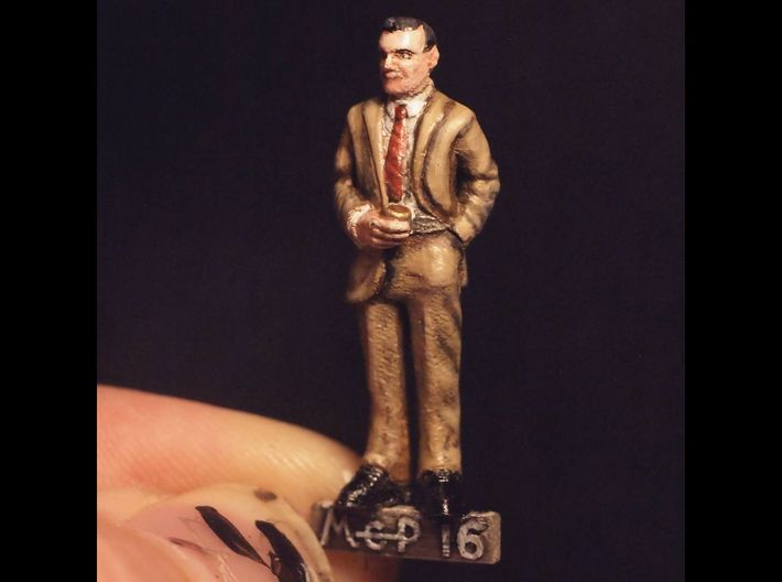 Ron Rolson: 28mm 1960s Ad Man 3d printed Painted Frosted Ultra Detail