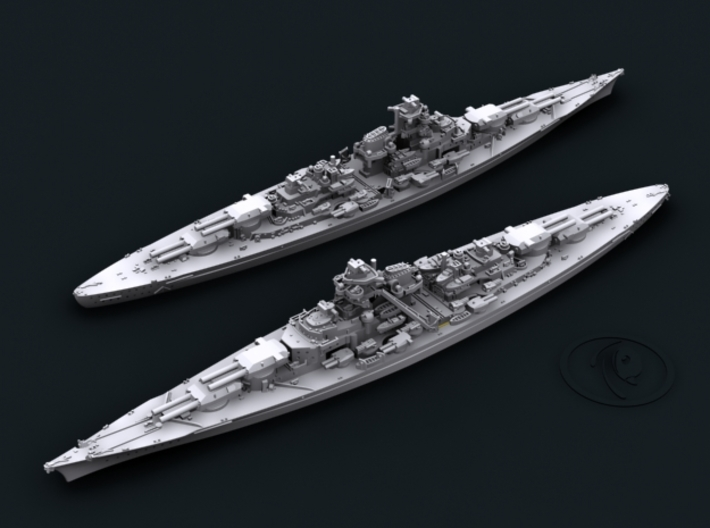 1/1800 KM BB Bismarck [1941] 3d printed Computer software render