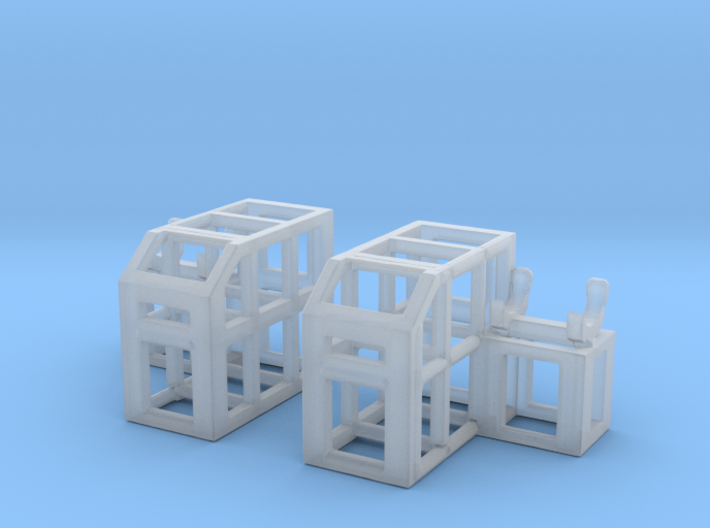 Depth Charge Thrower Rack 1/144 Scale 3d printed