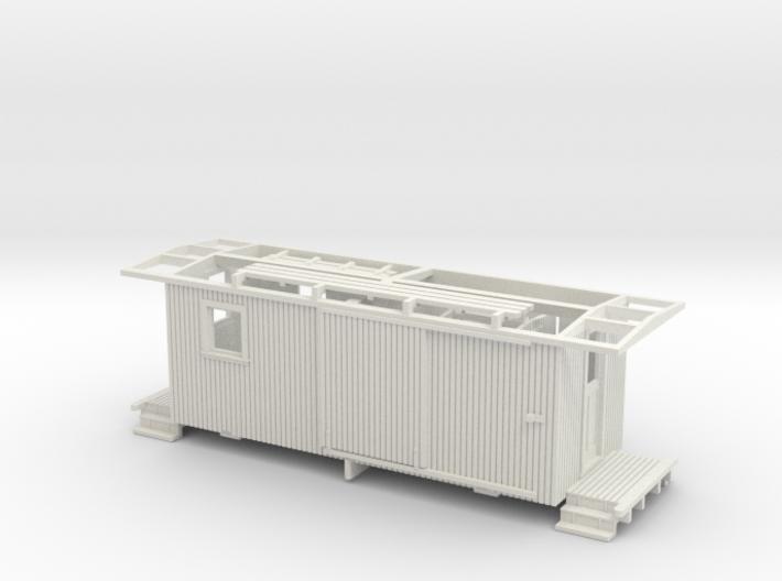 NCNGRR Caboose Sn3 3d printed