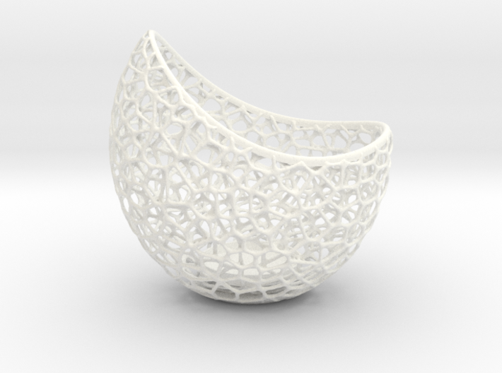 Filigree double wall tealight holder 3d printed