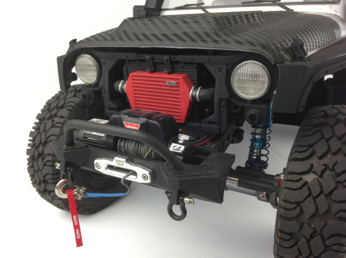 RS10002 Ripp Intercooler & Radiator Mount 3d printed Shown fitted with the option Knight Customs grill and Axial light Bucket set (sold separately).