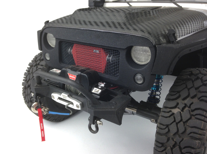 RS10001 Ripp Intercooler JK - RED 3d printed Part shown painted and installed. Grill and vehicle sold separately.
