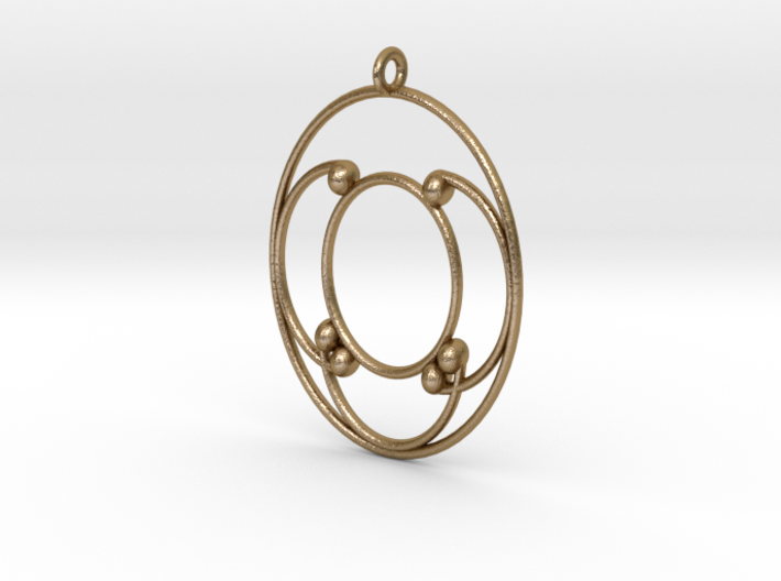 Oval Pendant 3d printed