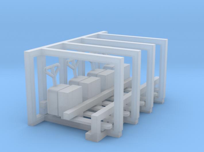 N Scale Electric Pallet Jack (4pc) 3d printed