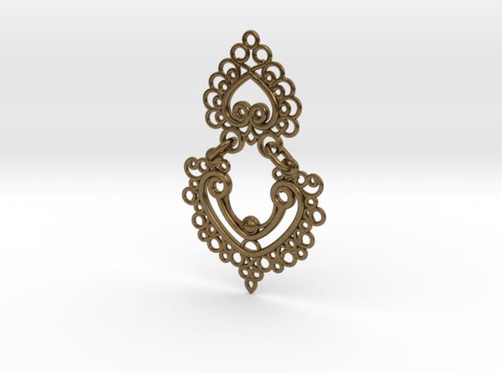 BlakOpal Linked Earring 3d printed