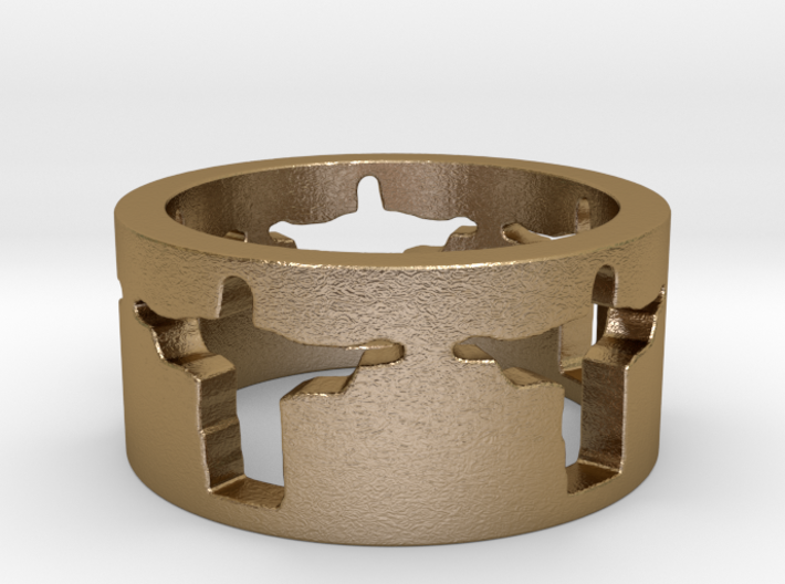 Cristo band Ring Size 5.5 3d printed