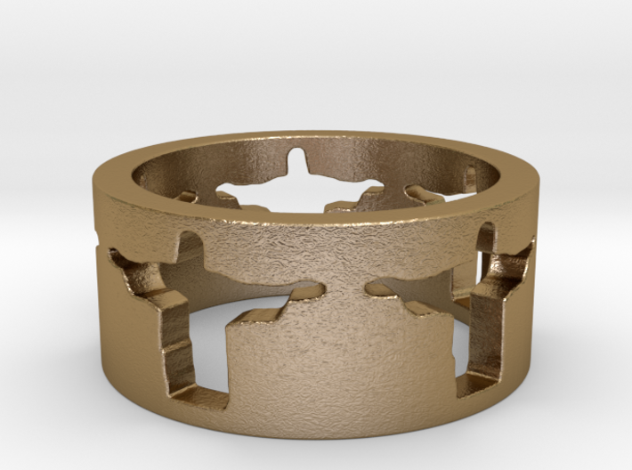 Cristo band Ring Size 6.5 3d printed