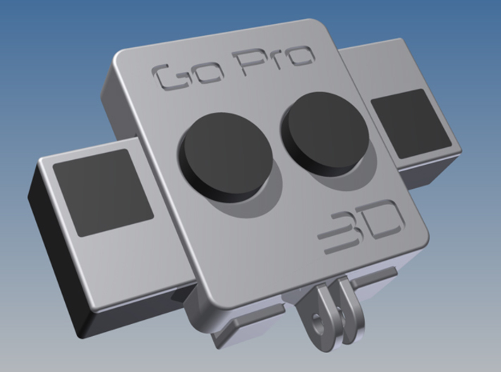 GoPro 3D rig front (1 of 2) 3d printed
