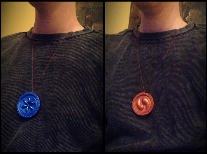 Sage Medallions 3d printed Can be used as a necklace or pendant!