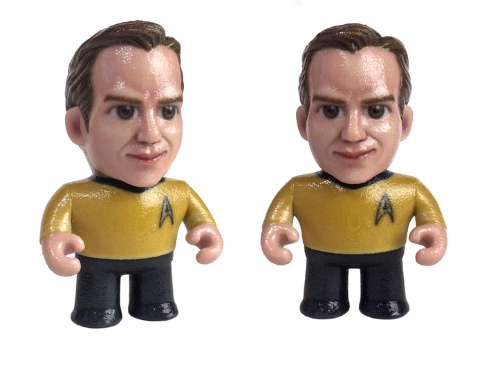 Kirk Star Trek Caricature 3d printed Captain Kirk Star Trek Caricature
