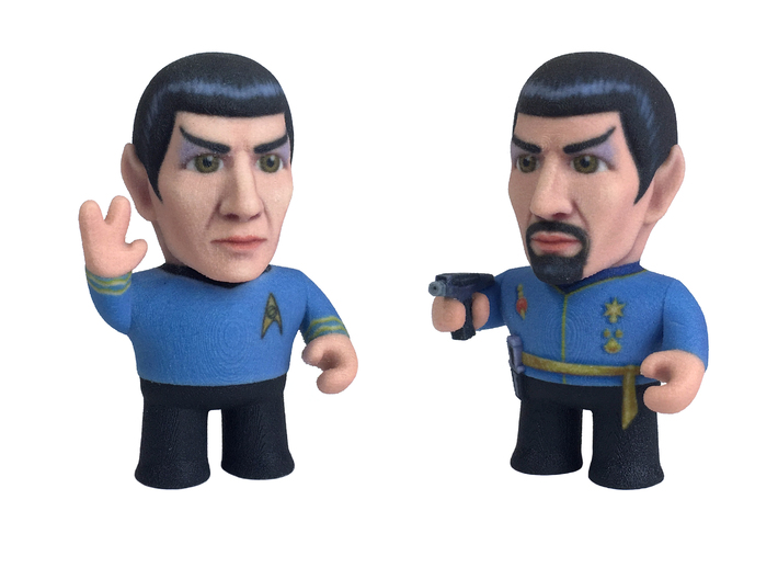 Spock Star Trek Caricature 3d printed Spock and Mirror Spock