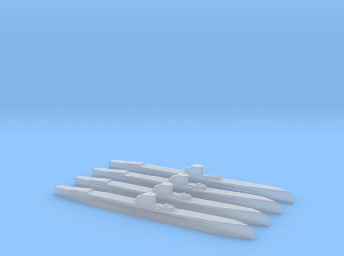 Delfinul class (1/2400) x4 3d printed